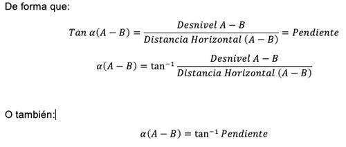 6 formula angulo inclinacion