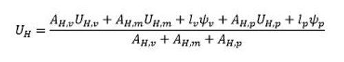 calculo transmitancia termica formula une en iso