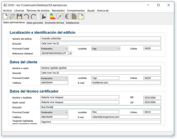 c3x certificacion energetica de edificios paso 2