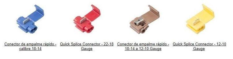 conectores rápidos de empalme