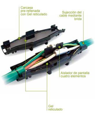 empalme cable torpedos aislantes abierto