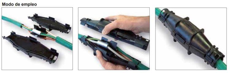 empalme cable torpedos aislantes montaje