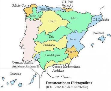 Vertientes Mapa Hidrografico De España.Las Cuencas Hidrograficas De Espana