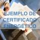 Ejemplo certificado energético