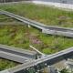Un ejemplo de cubierta verde en Suiza.