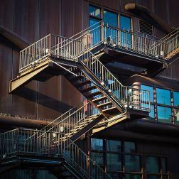 Las escaleras de emergencia