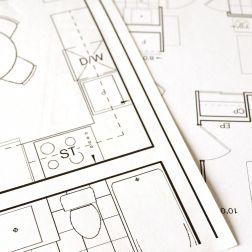 Plano de distribución de una casa