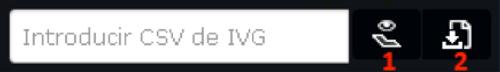 Formulario para introducir el CSV del IVG