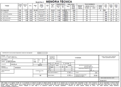 Memoria técnica AGIT  Software Técnico para Instaladores Eléctricos