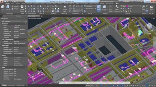 Captura de pantalla de un modelado 3D con la herramienta Navisworks.