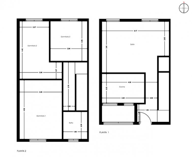 planos de casas de dos plantas On dibujar planos de casas