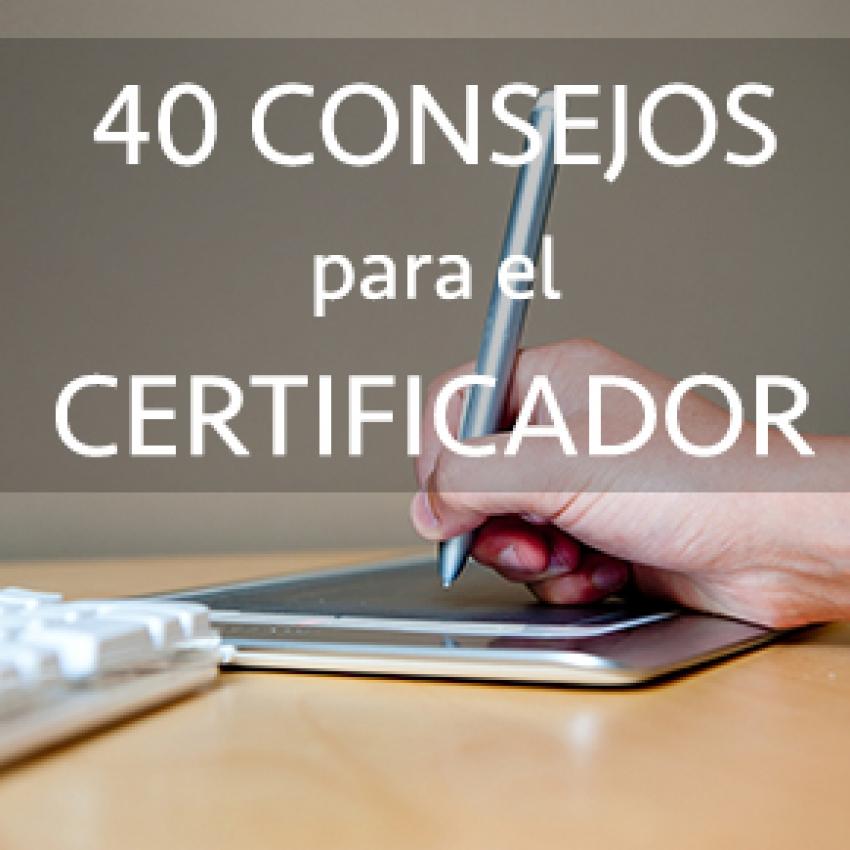 40 consejos para realizar Certificaciones Energéticas