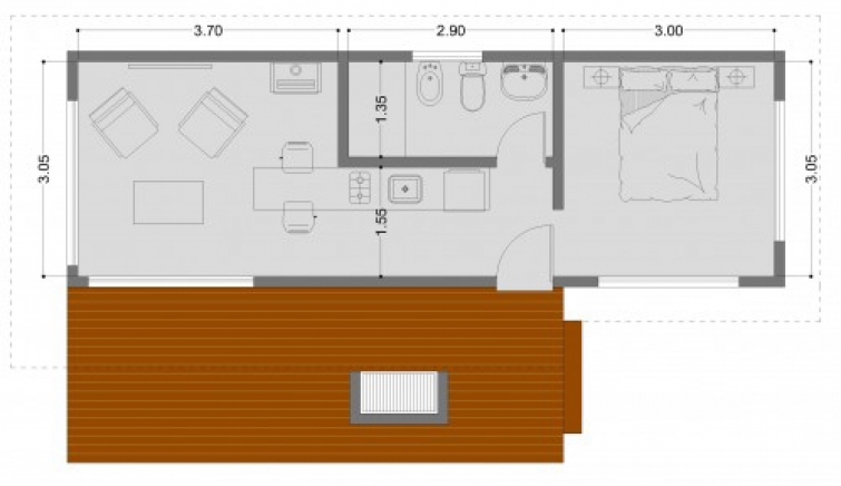 C mo hacer el plano de una casa for Planos de casas para construir de una planta