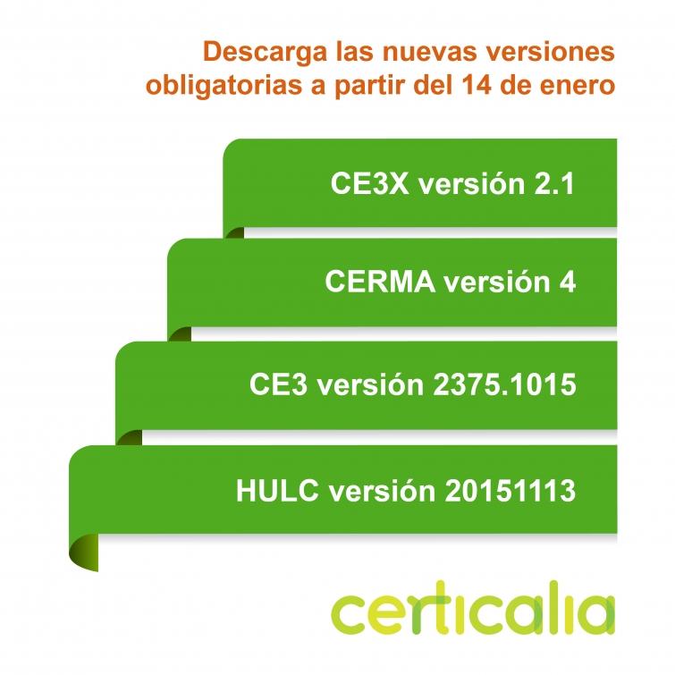 nuevas versiones programas certificacion