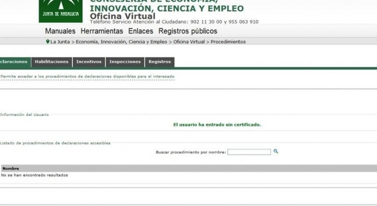 comprobar certificado energetico andalucia