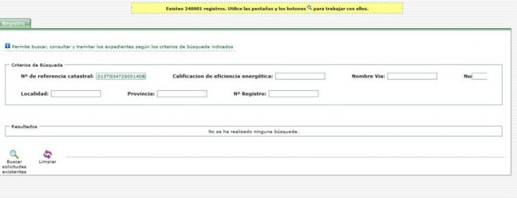 registro certificado energetico informacion