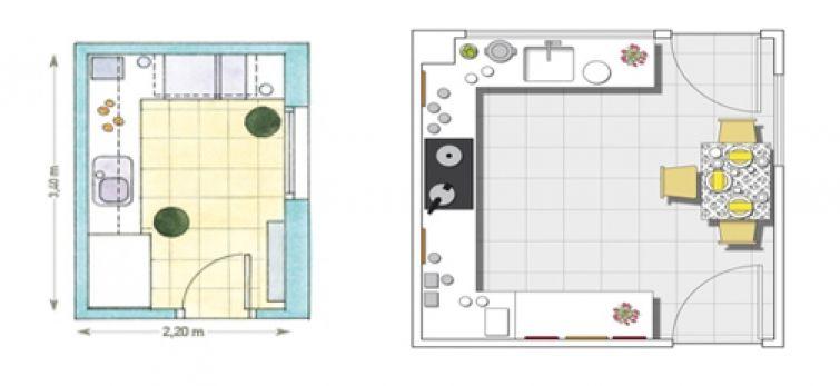 C mo hacer el plano de una cocina for Plano de una cocina profesional