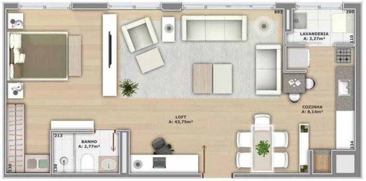 Como distribuir una casa rectangular for Como distribuir una habitacion pequena