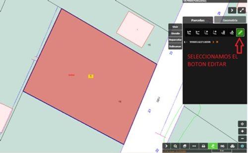 Captura de pantalla donde indica dónde seleccionar el botón de editar