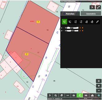 Captura de pantalla de la selección de dos parcelas
