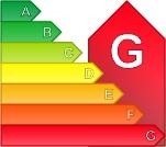 Calificación energética G para Piso, 50-80 m2 en