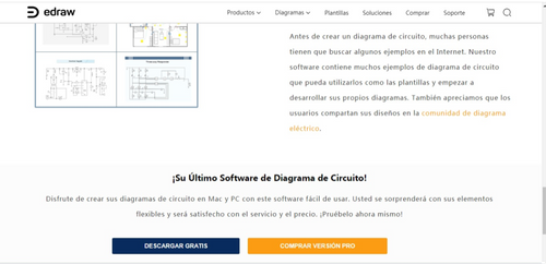 Web Edraw Creador de Diagramas de Eléctricos