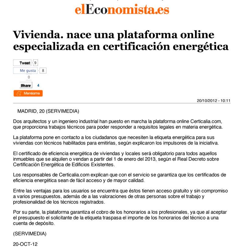 CERTIFICADO ENERGETICO DE VIVIENDAS